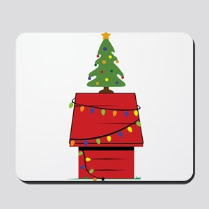 Holiday Dog House Mousepad