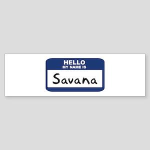 Hello: Savana Bumper Sticker