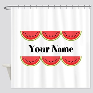 Watermelons Personalized Shower Curtain