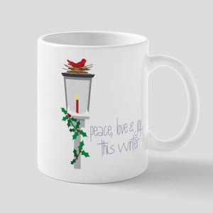 Peace - Love - Joy Mug