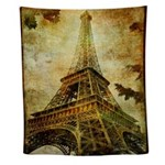 Eiffel Tower Grunge Wall Tapestry