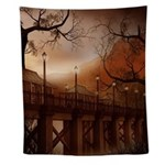 Asian Bridge Wall Tapestry