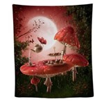 Surreal Tea Party Wall Tapestry