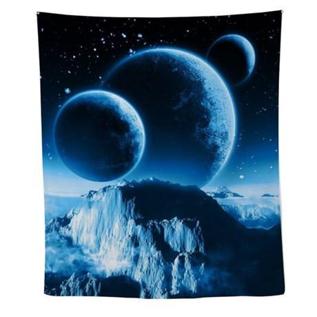 fantasy planets wall tapestry by fantasyartdesigns