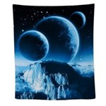 Fantasy Planets Wall Tapestry