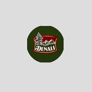 Denali Mountain Scene Mini Button