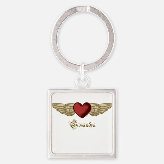Casandra the Angel Square Keychain