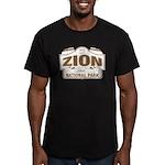 Zion National Park Men's Fitted T-Shirt (dark)