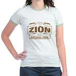 Zion National Park Jr. Ringer T-Shirt