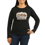 Zion National Park Women's Long Sleeve Dark T-Shir