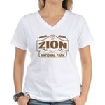 Zion National Park Women's V-Neck T-Shirt