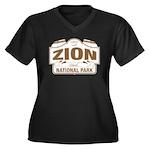 Zion National Park Women's Plus Size V-Neck Dark T