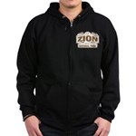 Zion National Park Zip Hoodie (dark)