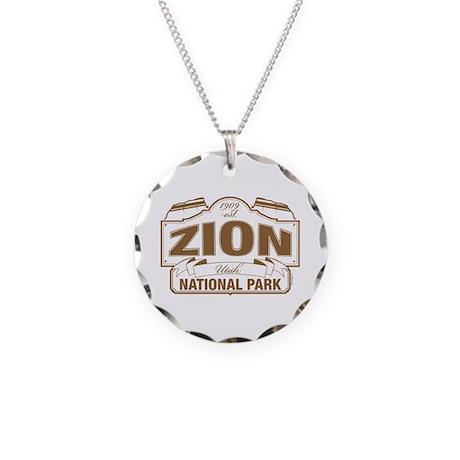 Zion National Park Necklace Circle Charm