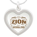 Zion National Park Silver Heart Necklace