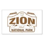 Zion National Park Sticker (Rectangle)