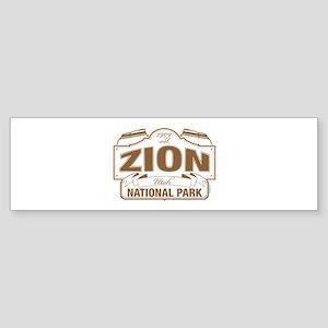 Zion National Park Sticker (Bumper)