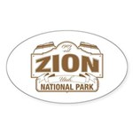 Zion National Park Sticker (Oval 10 pk)