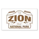 Zion National Park Sticker (Rectangle 10 pk)