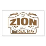Zion National Park Sticker (Rectangle 10 pk)