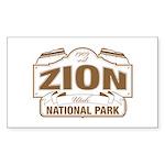 Zion National Park Sticker (Rectangle 50 pk)