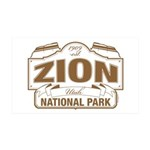 Zion National Park 35x21 Wall Decal