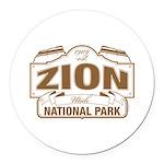 Zion National Park Round Car Magnet