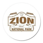 Zion National Park Round Car Magnet