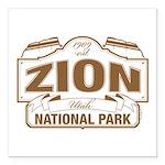 Zion National Park Square Car Magnet 3