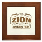 Zion National Park Framed Tile