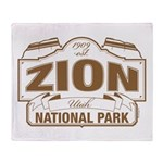 Zion National Park Throw Blanket