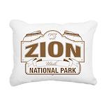 Zion National Park Rectangular Canvas Pillow