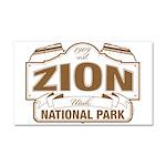 Zion National Park Car Magnet 20 x 12