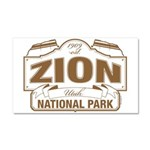 Zion National Park Car Magnet 20 x 12