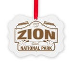 Zion National Park Picture Ornament