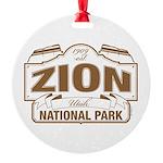 Zion National Park Round Ornament