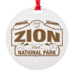Zion National Park Round Ornament