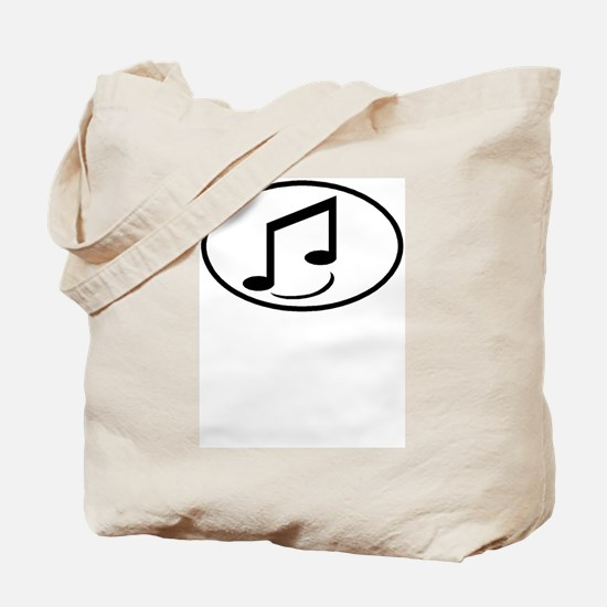 Music Note oval Tote Bag