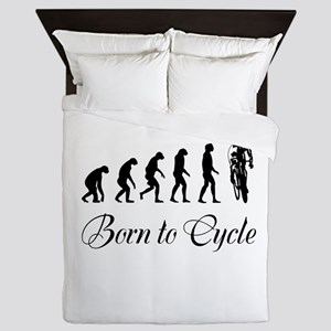 Born To Cycle Queen Duvet