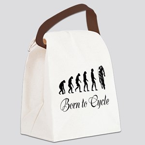 Born To Cycle Canvas Lunch Bag