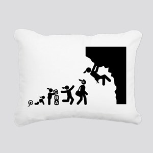 Rock Climbing Rectangular Canvas Pillow