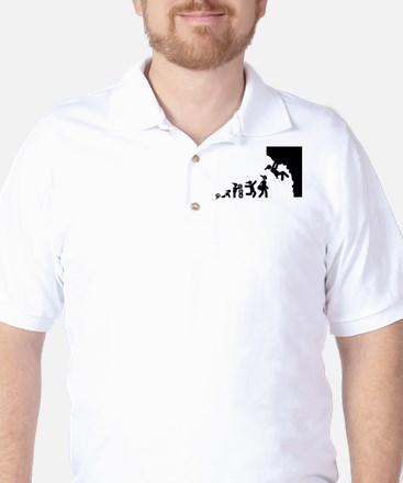 Rock Climbing Golf Shirt