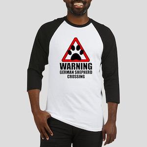 German Shepherd Warning Baseball Jersey