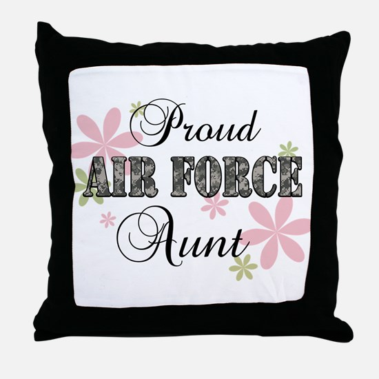 Air Force Aunt [fl camo] Throw Pillow