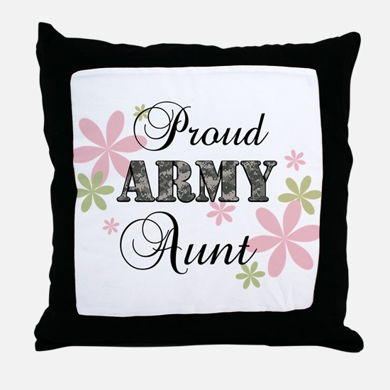 Army Aunt [fl camo] Throw Pillow