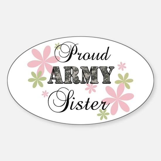 Army Sister [fl camo] Sticker (Oval)