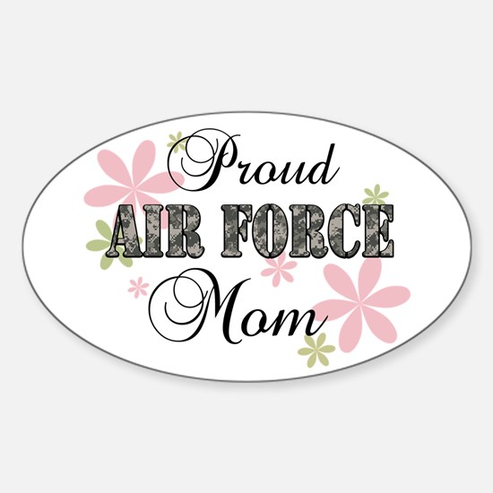 Air Force Mom [fl camo] Sticker (Oval)