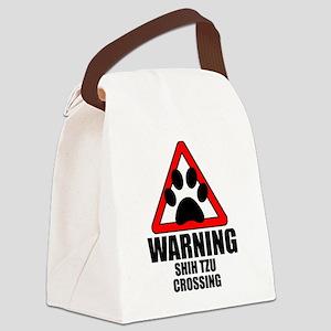 Shih Tzu Warning Canvas Lunch Bag
