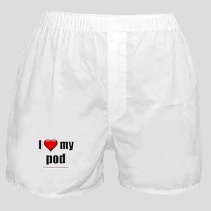 I Love My Pod Boxer Shorts