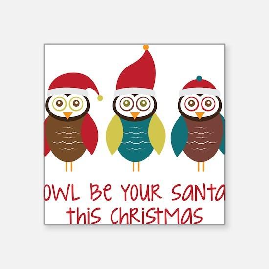 Owl Santa Sticker